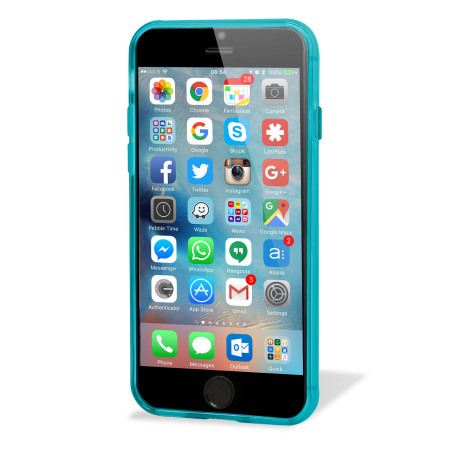 Flexishield iphone 6s plus gel case light blue