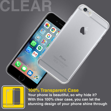 ultra thin flexishield iphone 6 gel case 100% clear should have region