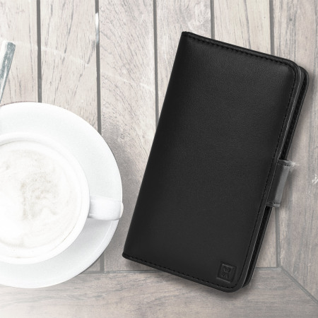 Olixar Sony Xperia Z5 Compact Genuine Leather Wallet Case - Black