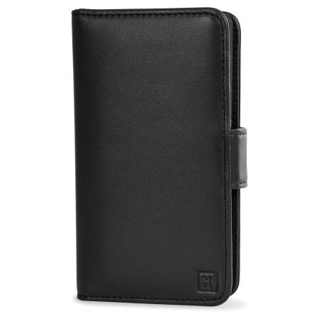 olixar sony xperia z5 compact genuine leather wallet case black Doro 410