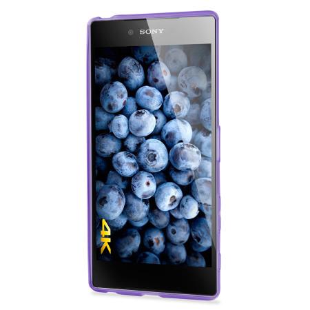 flexishield case sony xperia z5 premium h lle in purple