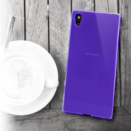 sony z5 premium. flexishield sony xperia z5 premium case - purple