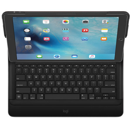 logitech create ipad pro 12 9 inch backlit keyboard case black