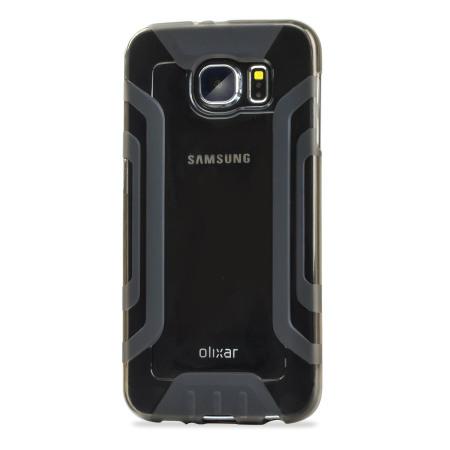 FlexiGrip Samsung Galaxy S6 Gel Case - Smoke Black