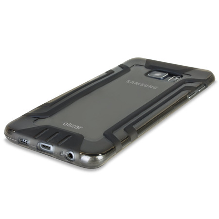 FlexiGrip Samsung Galaxy S6 Edge Plus Case - Smoke Black