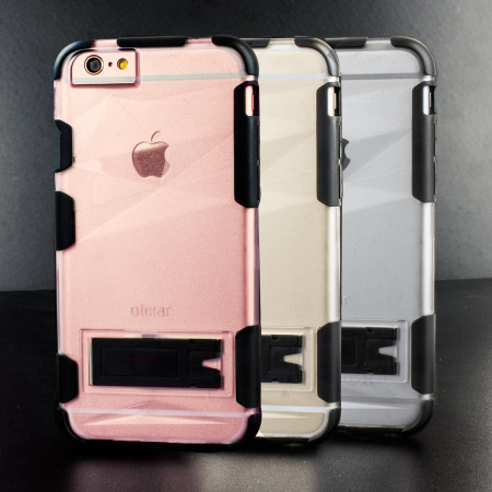 Olixar ArmourGrip iPhone 6S Plus / 6 Plus Stand Case - Frosted Prism