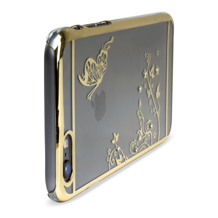 official photos 129e2 9edea Olixar Butterfly iPhone 6S Plus / 6 Plus Shell Case - Gold / Clear