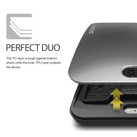 Verus Pebble iPhone 6S / 6 Case - Dark Silver