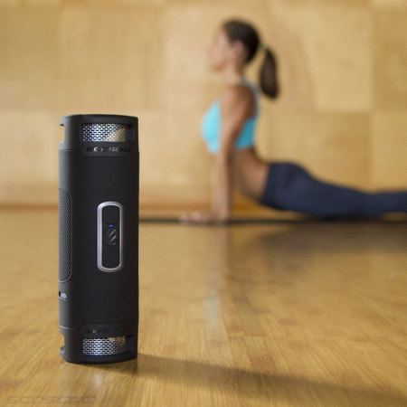 Scosche boomBOTTLE+ Waterproof Bluetooth Speaker - Black / Grey