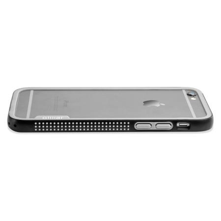 Olixar FlexiFrame iPhone 6S Bumper Case - Black / Grey