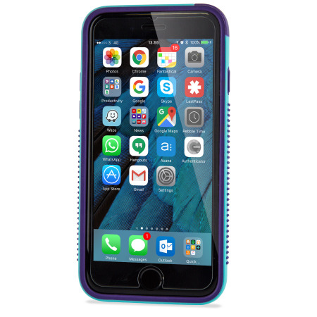 iPhone 6S Bumper Case - Olixar FlexiFrame Blue