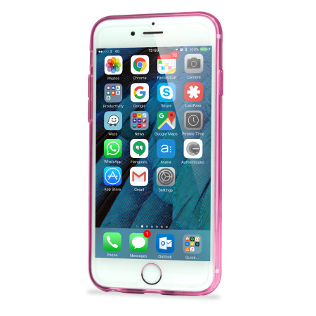 FlexiLoop iPhone 6S Gel Case with Finger Holder - Rose Pink