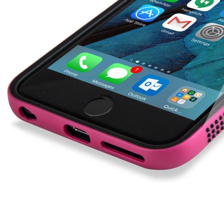Olixar FlexiFrame iPhone 6S Plus Bumper Case - Hot Pink