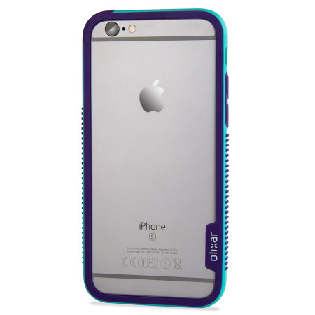 olixar flexiframe iphone 6s plus bumper case - blue