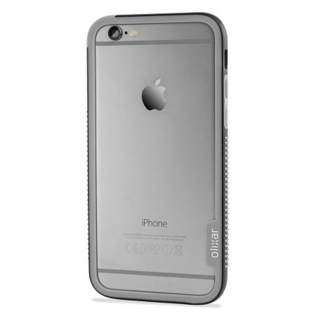 olixar flexiframe iphone 6s plus bumper case black grey received delivery wrong