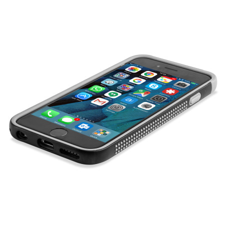 olixar flexiframe iphone 6s plus bumper case black grey