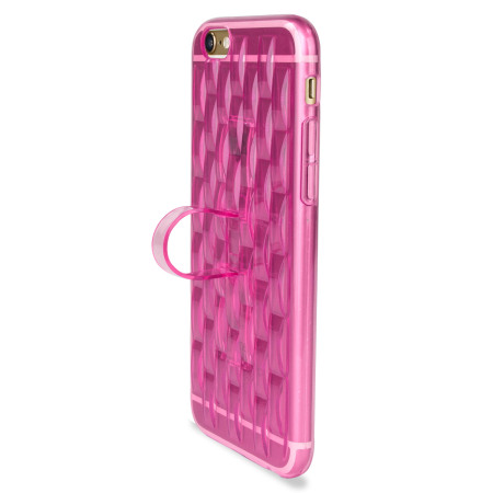 Lithium Ion flexiloop iphone 6s gel case with finger holder rose pink Unlimited size the