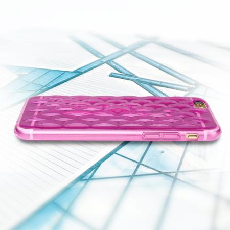Funda iPhone 6S Plus FlexiLoop con Correa de Dedo - Rosa