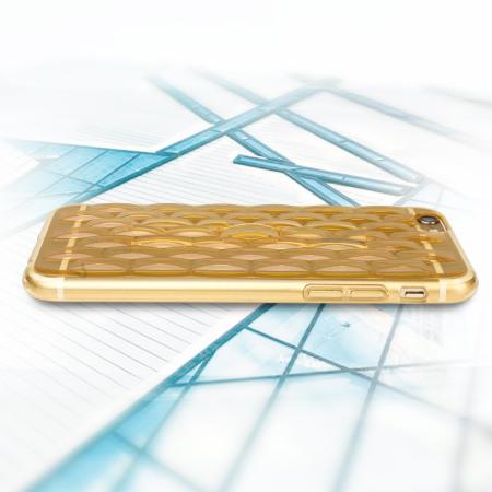 FlexiLoop iPhone 6S Plus Gel Case with Finger Holder - Gold