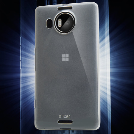 flexishield microsoft lumia 950 gel case frost white FAVermeer MHMeijer