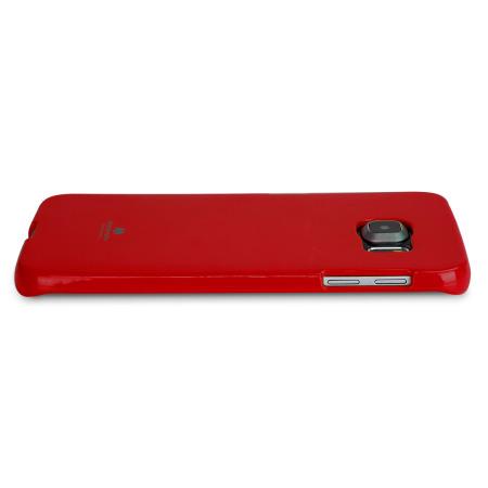 Mercury Goospery Jelly Samsung Galaxy S6 Edge Gel Case - Red