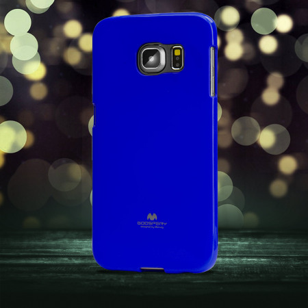 Mercury Goospery Jelly Samsung Galaxy S6 Edge Gel Case - Blue