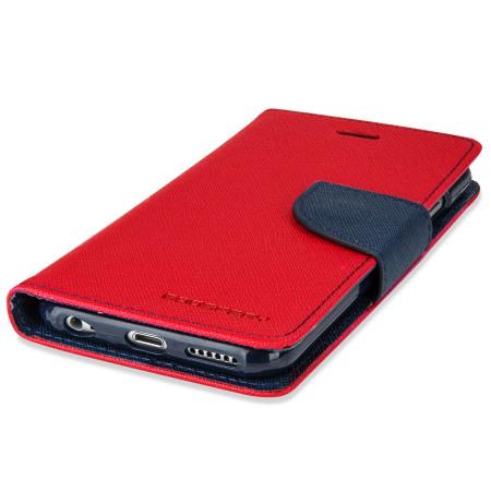 Mercury Goospery Fancy Diary iPhone 6S Plus / 6 Plus Case - Red / Navy