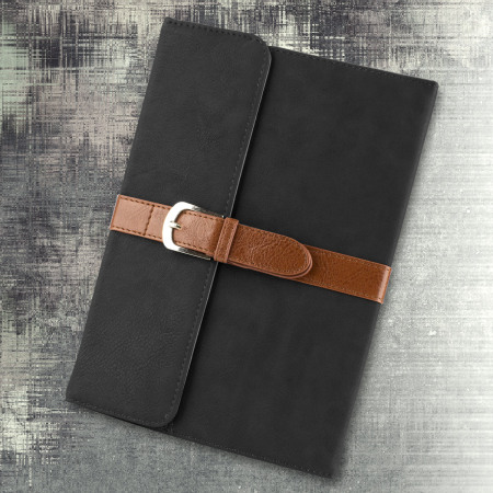 Olixar Vintage iPad Mini 4 Leather-Style Stand Case - Black