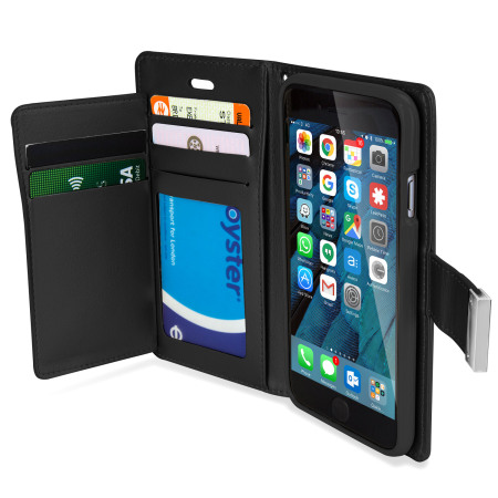 bezel less mercury rich diary iphone 6s 6 premium wallet case black 5 wifi