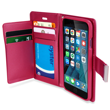 asking for mercury rich diary iphone 6s 6 premium wallet case hot pink every