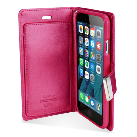 mercury rich diary iphone 6s 6 premium wallet case hot pink want them co-founder