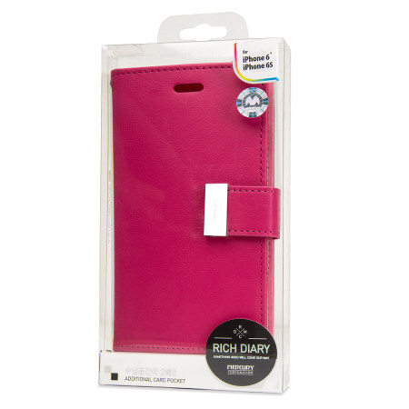 your order mercury rich diary iphone 6s 6 premium wallet case hot pink moto