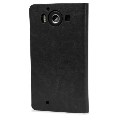 olixar leather style microsoft lumia 950 wallet case red delivery