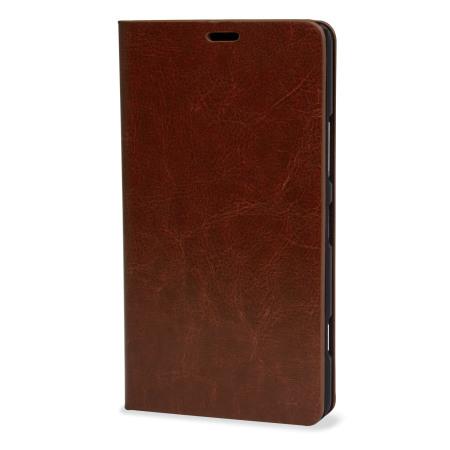 william, olixar leather style microsoft lumia 950 wallet case brown updates