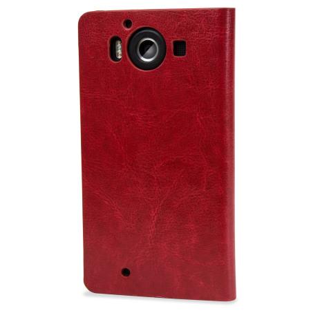 Housse portefeuille microsoft lumia 950 olixar imitation - Housse clic clac imitation cuir ...