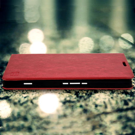 Olixar Leather-Style Microsoft Lumia 950 XL Wallet Case - Red