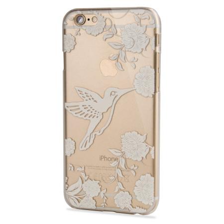 Adarga Hummingbird iPhone 6S / 6 Case - Clear / White