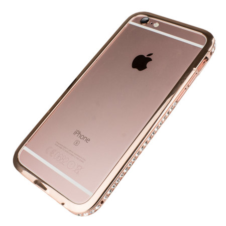 iphone rose gold olixar bling iphone 6s 6 metal bumper 1255