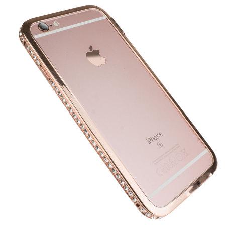 olixar crystal bling iphone 6s 6 metal bumper case rose gold. Black Bedroom Furniture Sets. Home Design Ideas