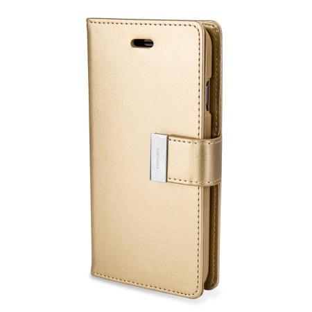 Mercury Rich Diary iPhone 6S / 6 Premium Wallet Case - Gold