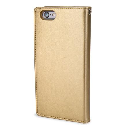 lumia mercury rich diary iphone 6s 6 premium wallet case gold power