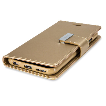 you want screen mercury rich diary iphone 6s 6 premium wallet case gold more