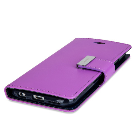 personal use mercury rich diary iphone 6s 6 premium wallet case purple action