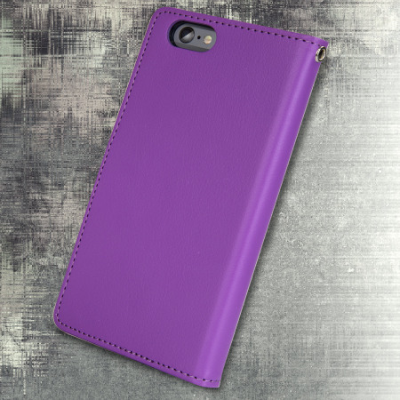 mercury rich diary iphone 6s plus 6 plus wallet case purple