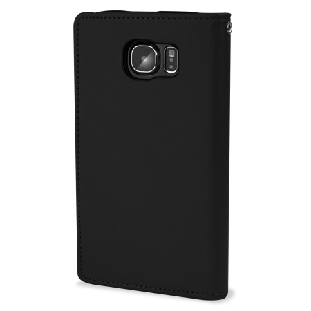 Mercury Rich Diary Samsung Galaxy S6 Premium Wallet Case - Black