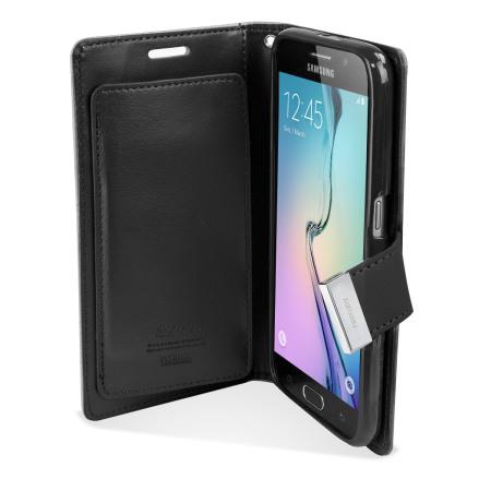 moto mercury rich diary samsung galaxy s6 premium wallet case black