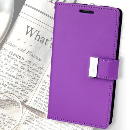 Mercury Rich Diary Samsung Galaxy S6 Premium Wallet Case - Purple