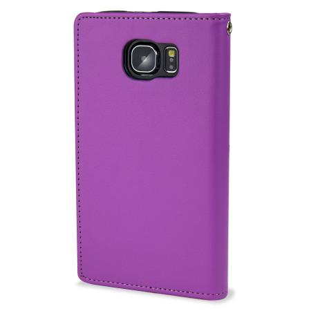 mercury rich diary samsung galaxy s6 premium wallet case black