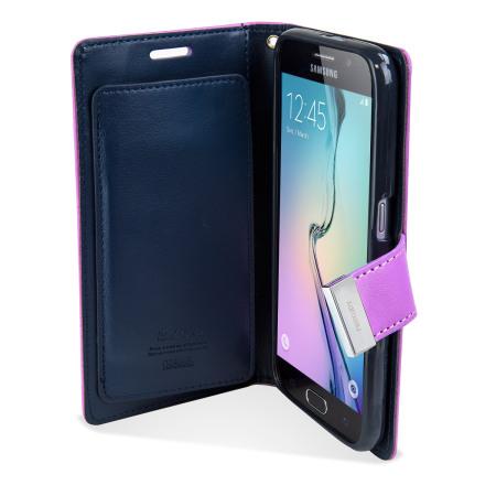 teacup mercury rich diary samsung galaxy s6 premium wallet case purple