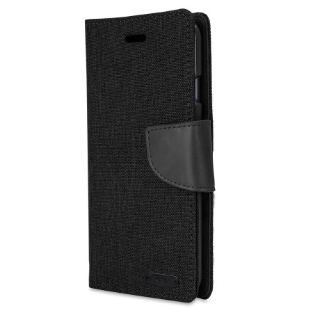 Mercury Canvas Diary iPhone 6S / 6 Wallet Case - Black / Black